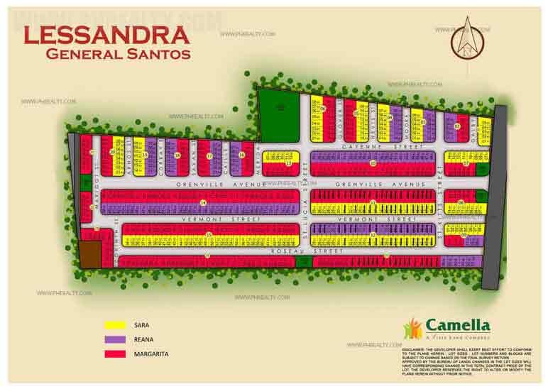 Camella Lessandra General Santos City - Site Development Plan