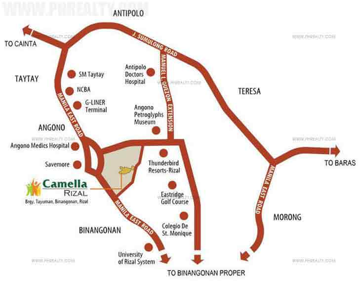 Camella Binangonan Rizal  - Location & Vicinity