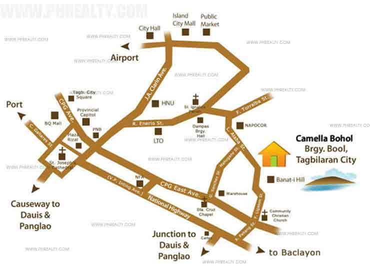 Camella Bohol - Location & Vicinity