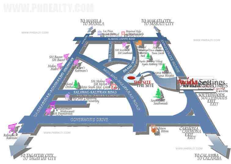 Avida Settings Cavite - Location & Vicinity