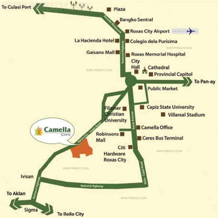 Camella Capiz  - Location & Vicinity