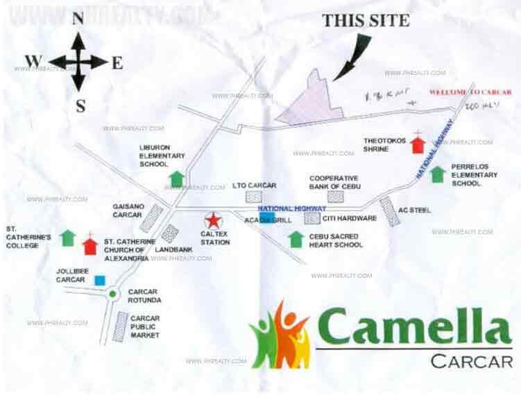 Camella Carcar - Location & Vicinity