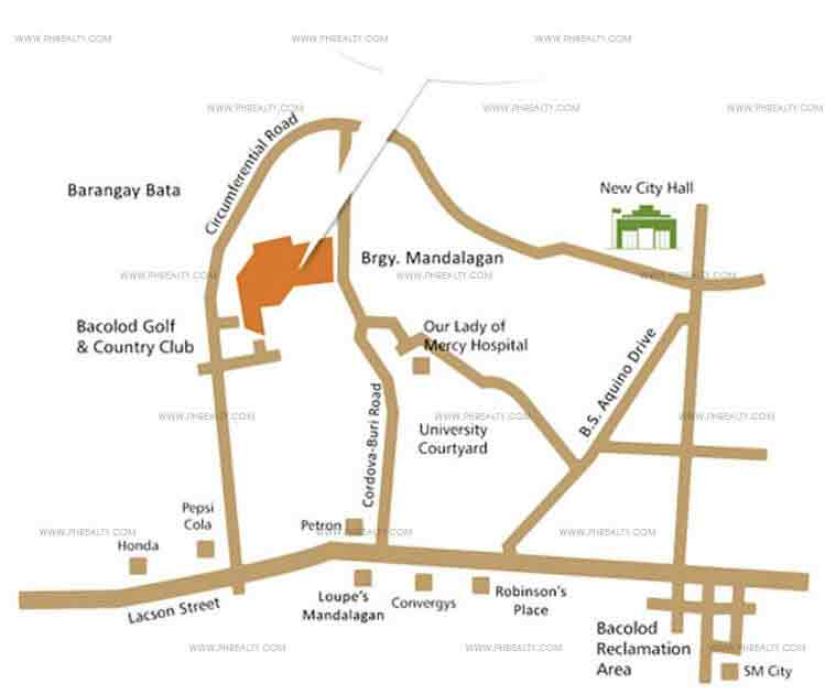 Camella Mandalagan Bacolod  - Location & Vicinity