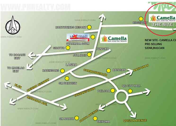 Camella Cielo  - Location & Vicinity