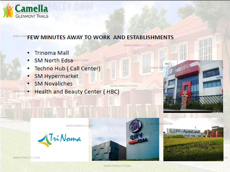 Camella Glenmont Trails  - Amenities and Facilities
