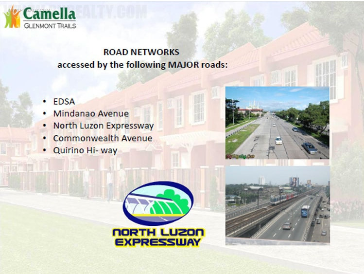 Camella Glenmont Trails  - Expressway