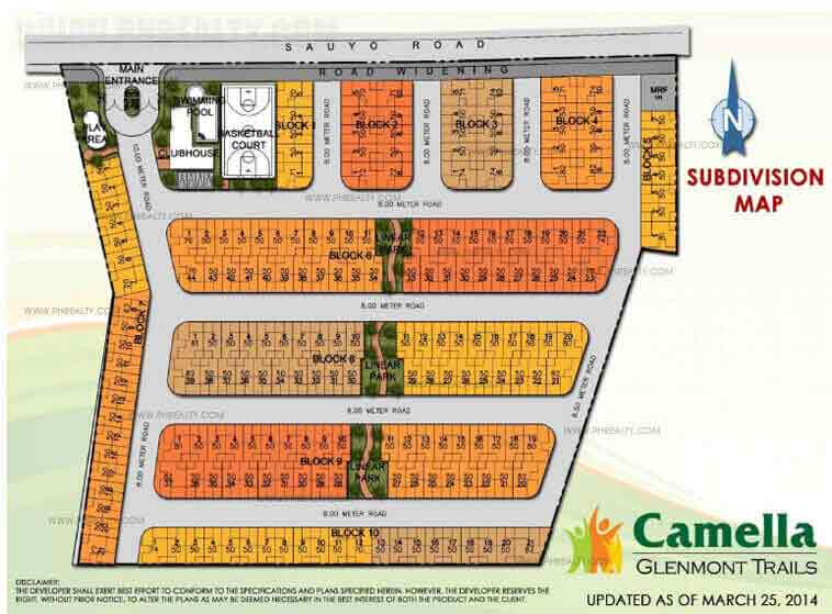 Camella Glenmont Trails  - Site Development Plan