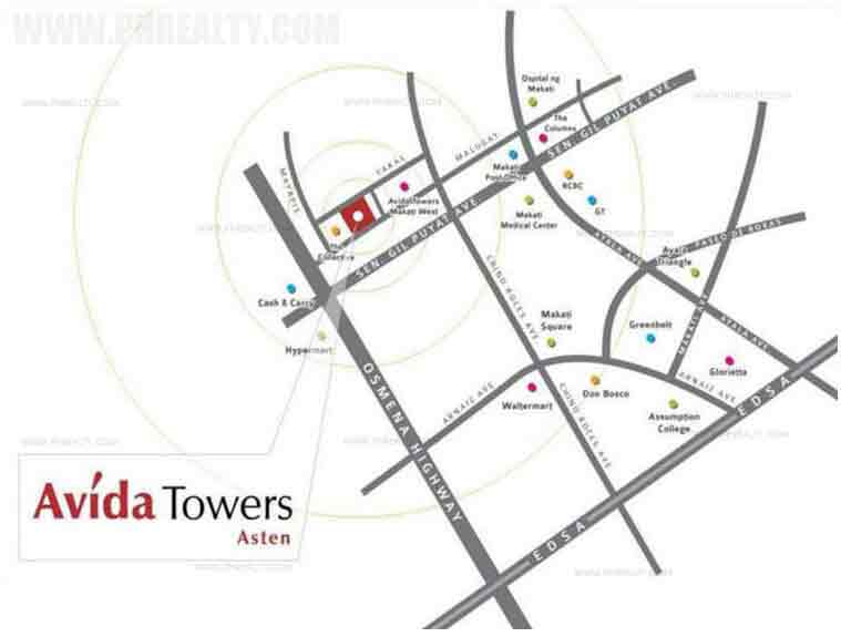Avida Towers Asten - Location & Vicinity