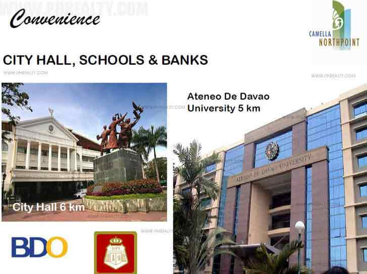 Camella North Point - City Hall Schools and Banks
