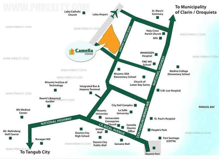 Camella Ozamiz  - Location & Vicinity