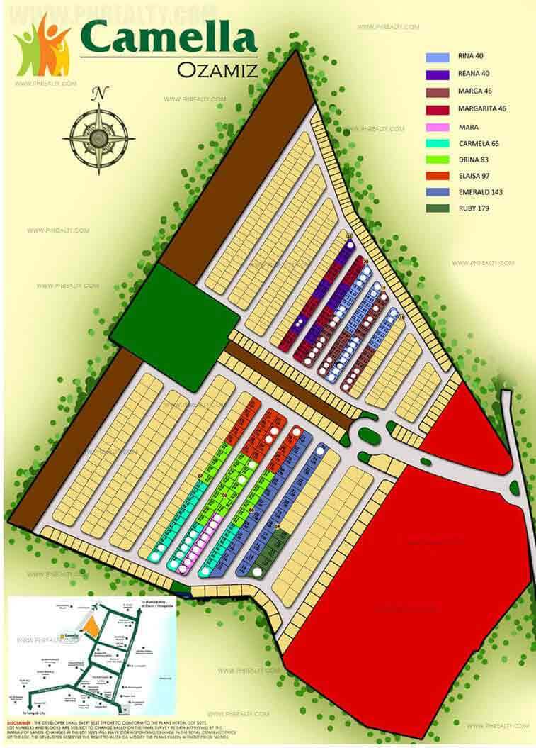 Camella Ozamiz  - Site Development Plan