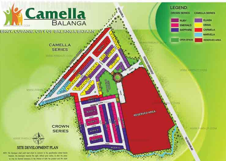Camella Balanga - Site Development Plan