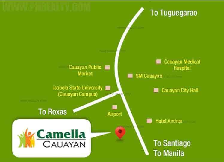 Camella Cauayan - Location & Vicinity