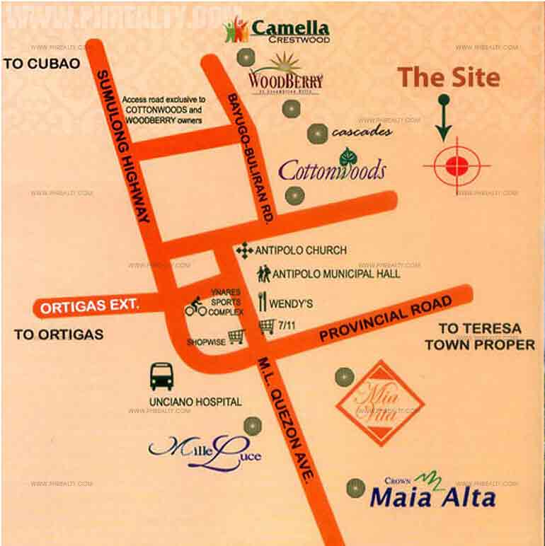 Camella Montego - Location & Vicinity