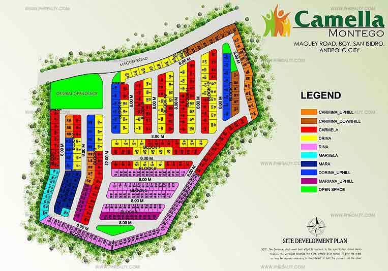 Camella Montego - Site Development Plan
