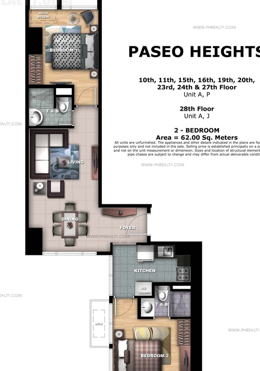 Paseo Heights - 29th - 30th Floor Unit A, J