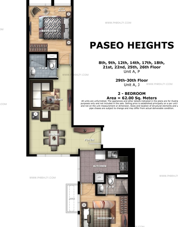 Paseo Heights - Unit A, P &  J