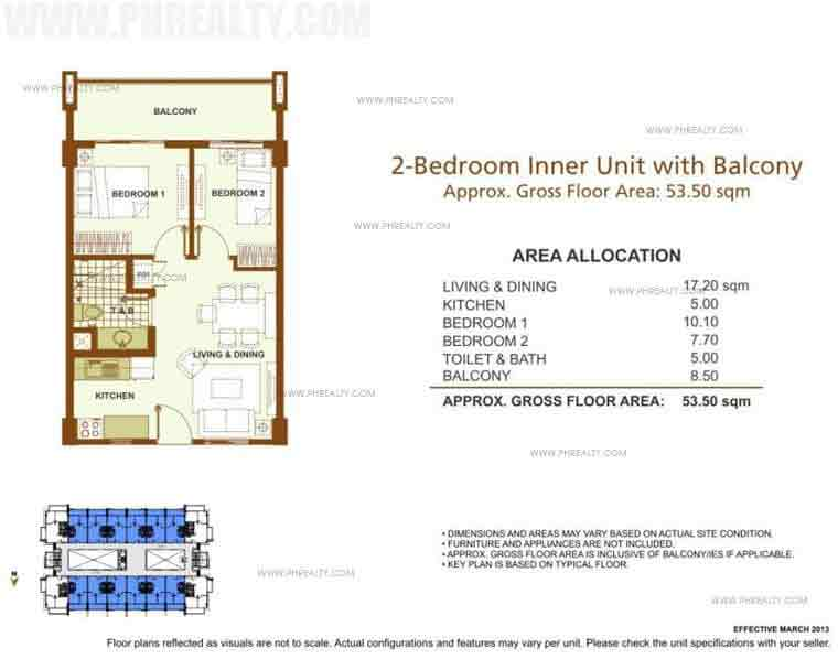 Outlook Ridge Residences - 2 BR Inner Unit