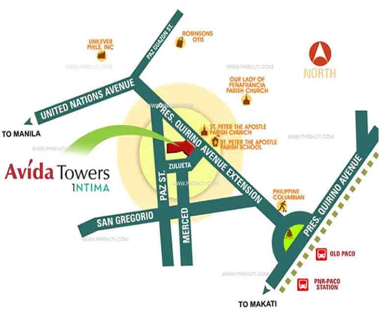 Avida Towers Intima - Location & Vicinity