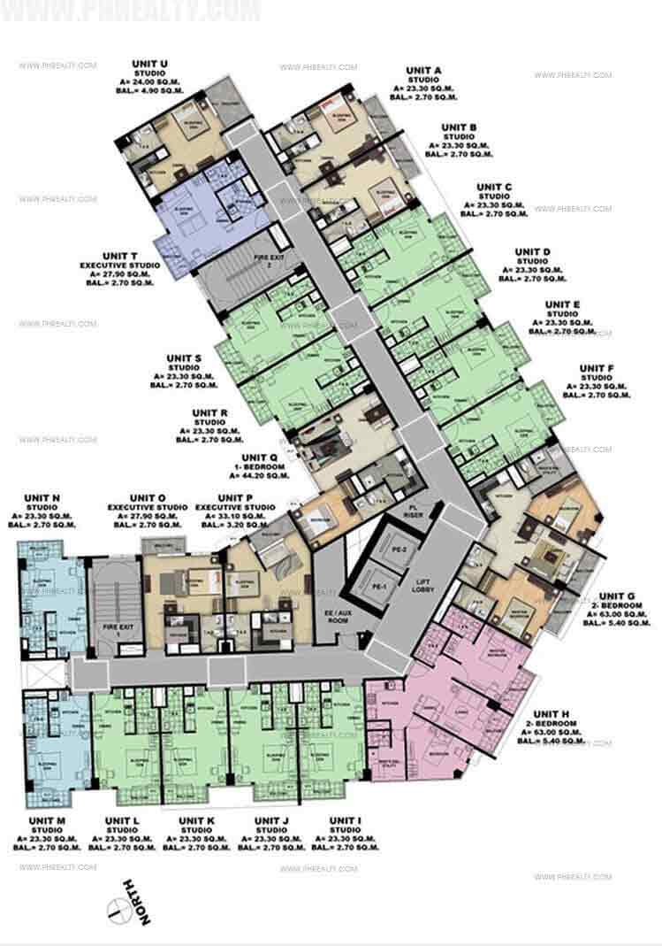One Madison Place Luxury Residence - Typical 4th - 10th Floor Plan