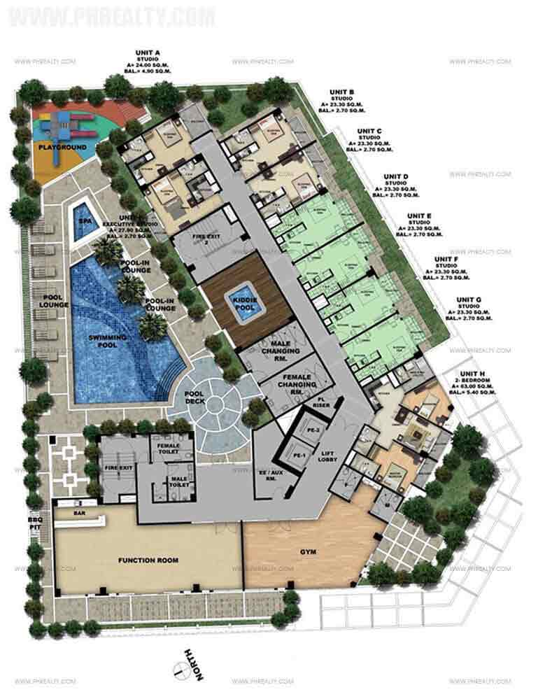 One Madison Place Luxury Residence - 3rd Floor Amenity Deck Plan