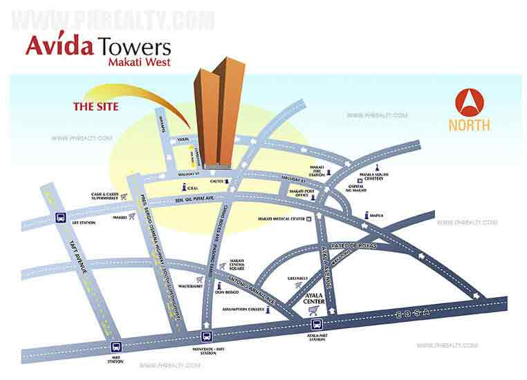 Avida Towers Makati West - Location & Vicinity