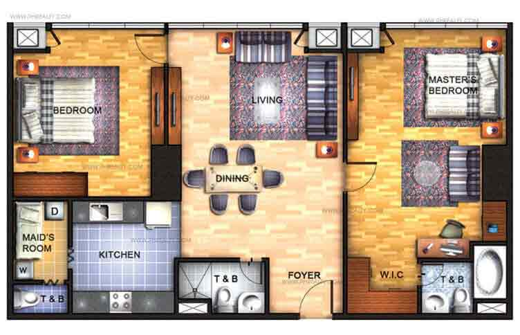 Avant at The Fort - 2 BR Unit 3