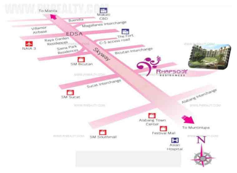 Rhapsody Residences - Location & Vicinity