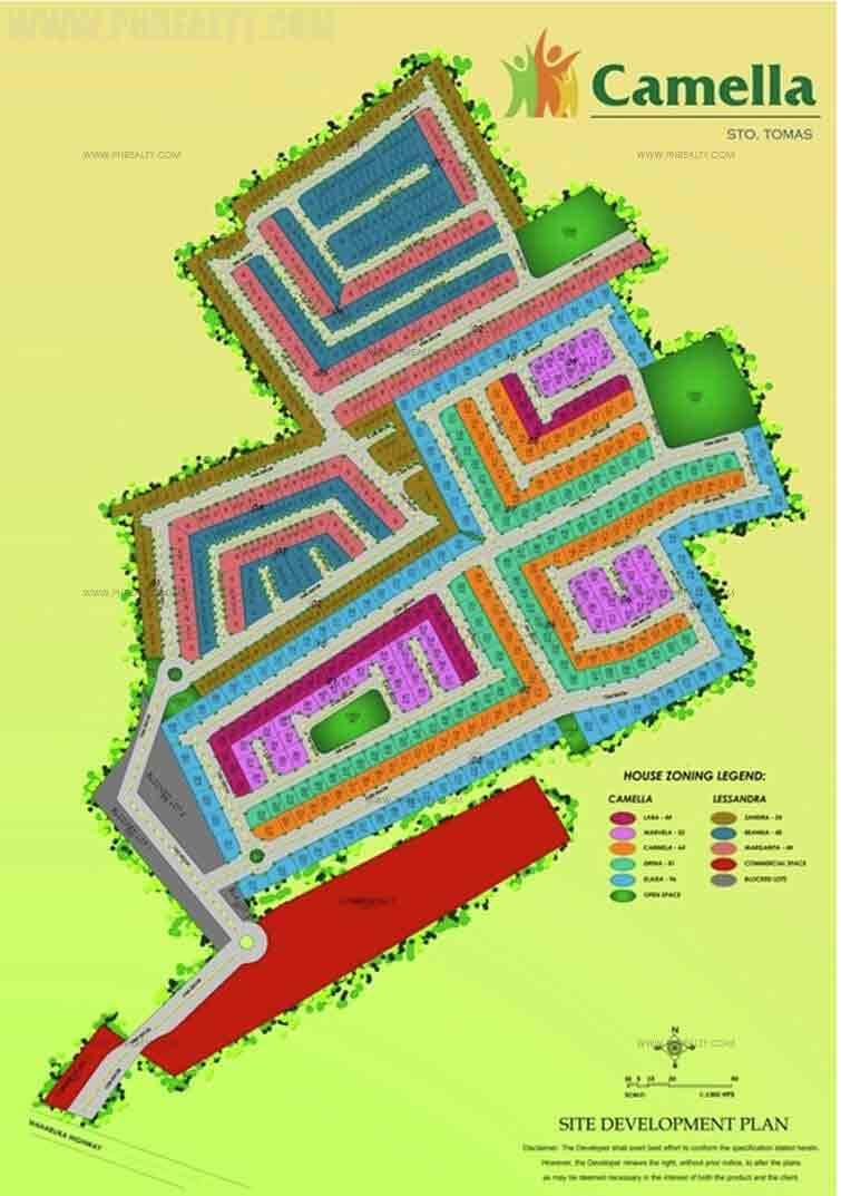 Camella Sto Tomas - Site Development Plan