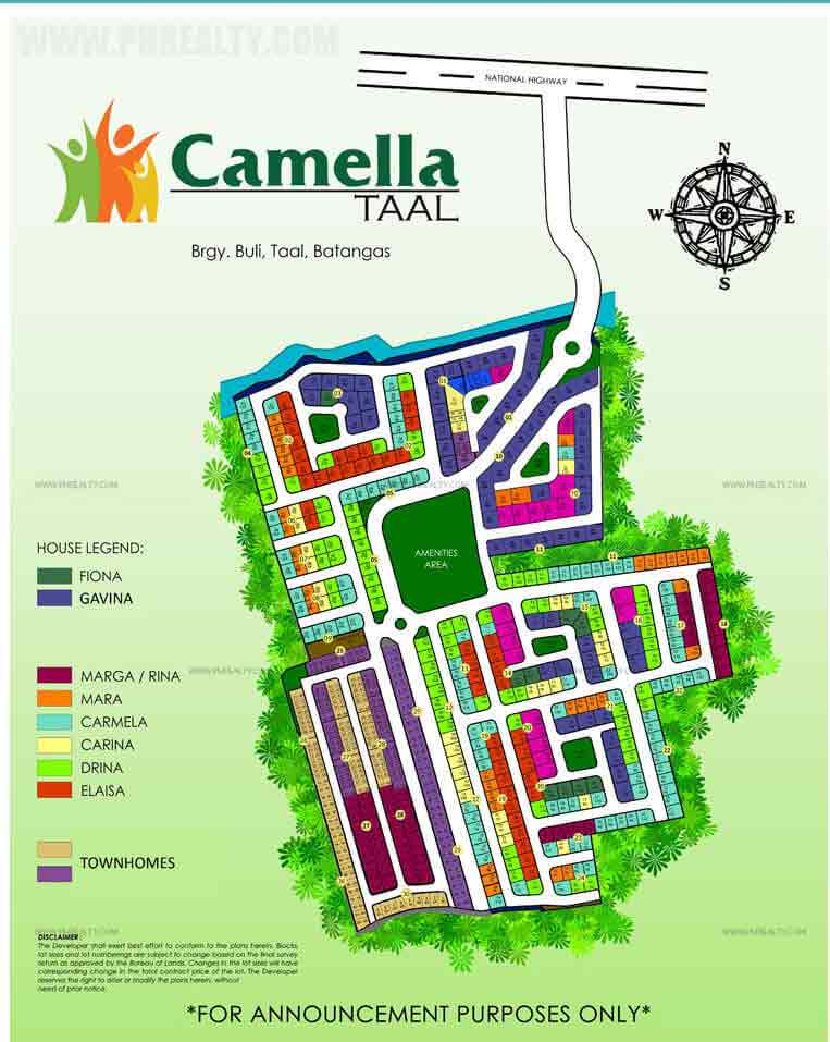 Camella Taal  - Site Development Plan
