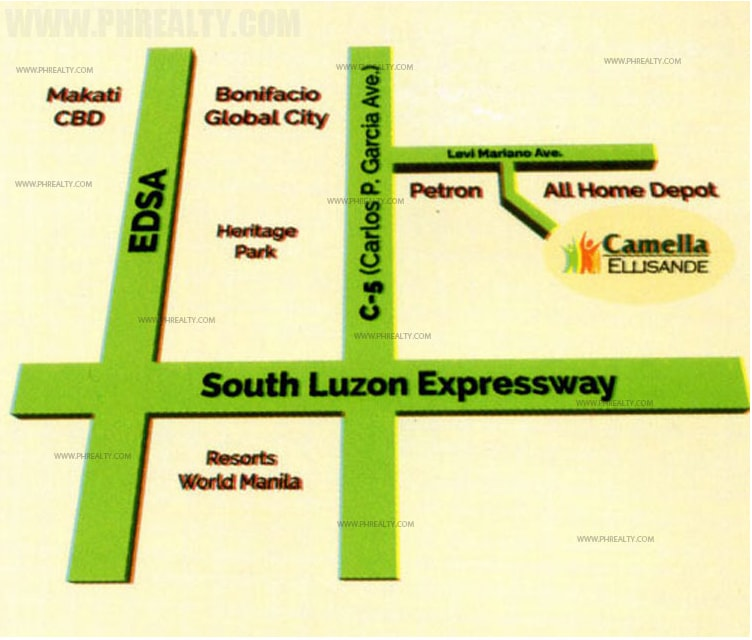 Camella Ellisande Taguig  - Location & Vicinity