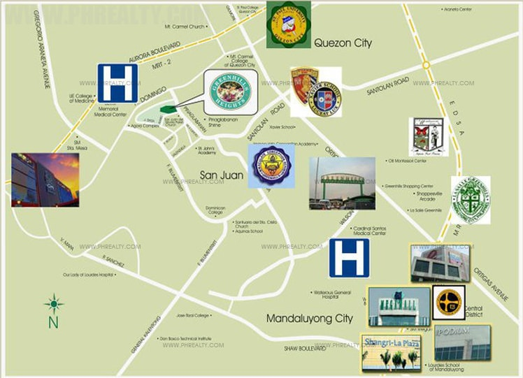 Greenhills Heights - Vicinity Map