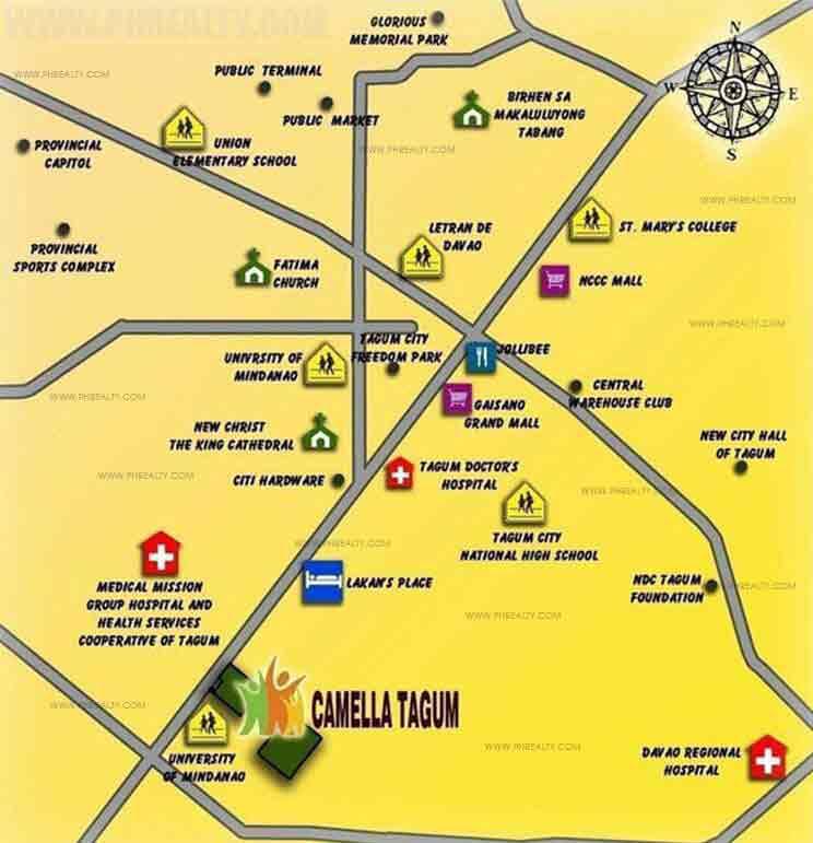 Camella Tagum - Location & Vicinity