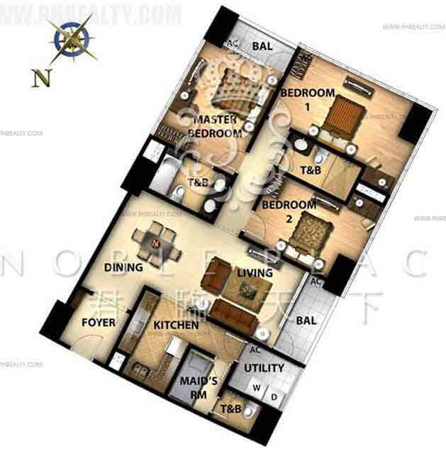 Noble Place - 3 Bedroom