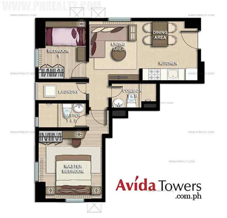 Avida Towers San Lorenzo - 2 Bedroom Unit