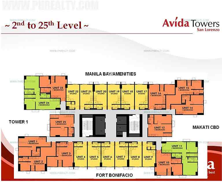 Avida Towers San Lorenzo - Floor Plans