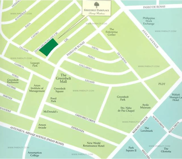 Greenbelt Parkplace - Location & Vicinity