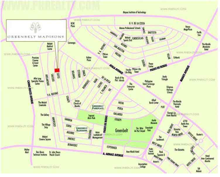 Greenbelt Madisons - Location & Vicinity