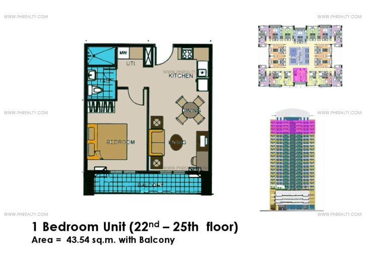 Crown Tower - 1 Bedroom with Balcony