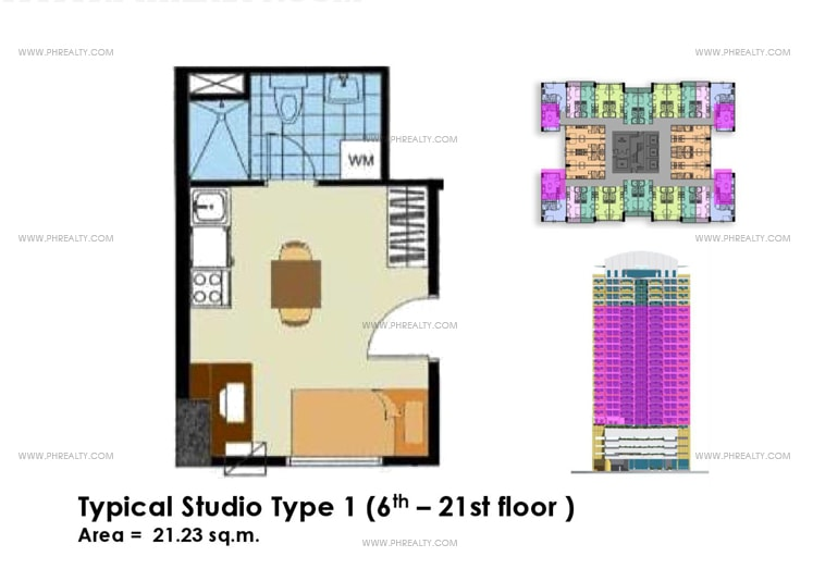Crown Tower - Typical Studio Unit Type 1