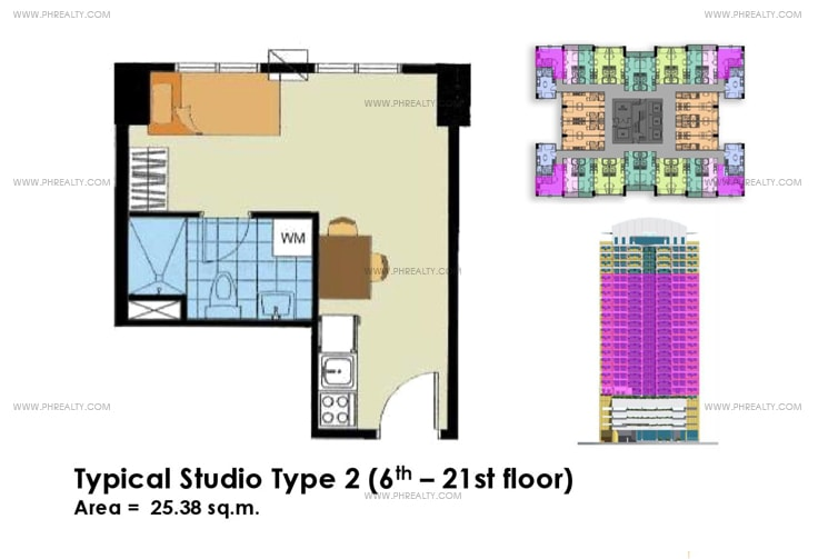 Crown Tower - Typical Studio Unit Type 2