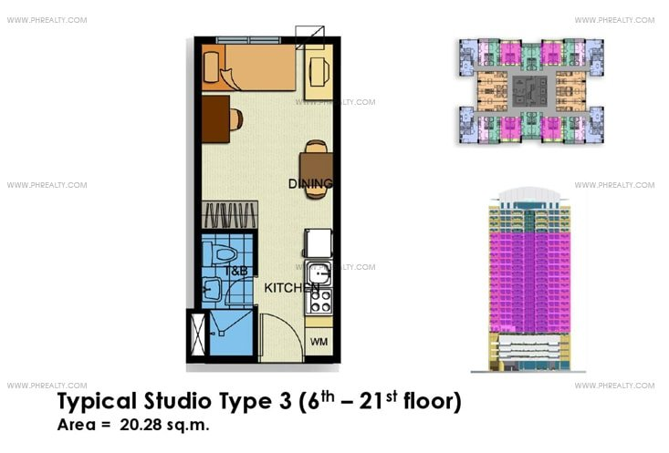 Crown Tower - Typical Studio Unit Type 3