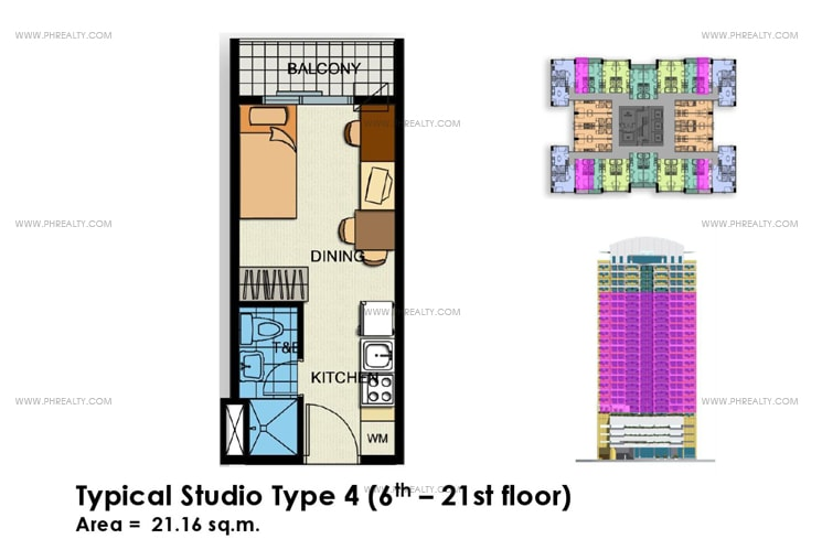 Crown Tower - Typical Studio Unit Type 4