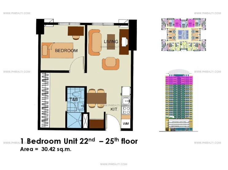 Crown Tower - 1 Bedroom without Balcony