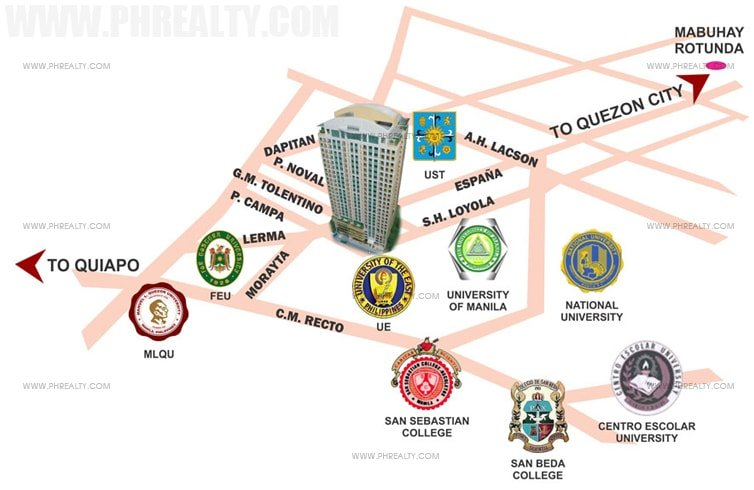 Crown Tower - Location & Vicinity