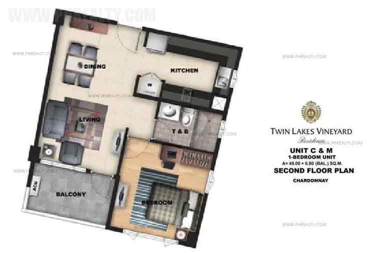 Twin Lakes - Unit C & M 1 Bedroom