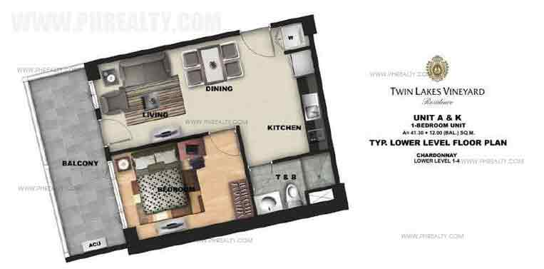 Twin Lakes - Unit A & K 1 Bedroom
