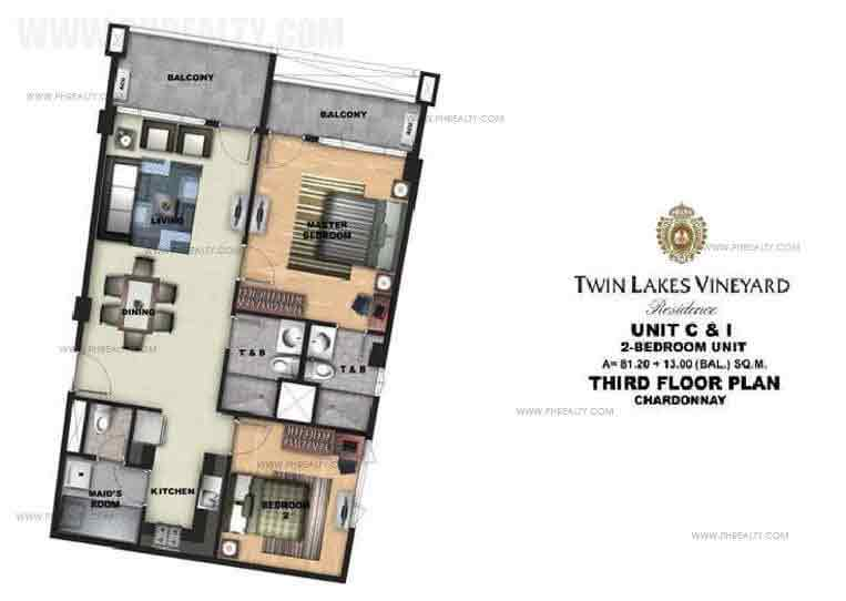 Twin Lakes - Unit C & I 2 Bedroom