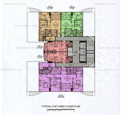 Greenbelt Chancellor - 31st -33rd Floor Plan