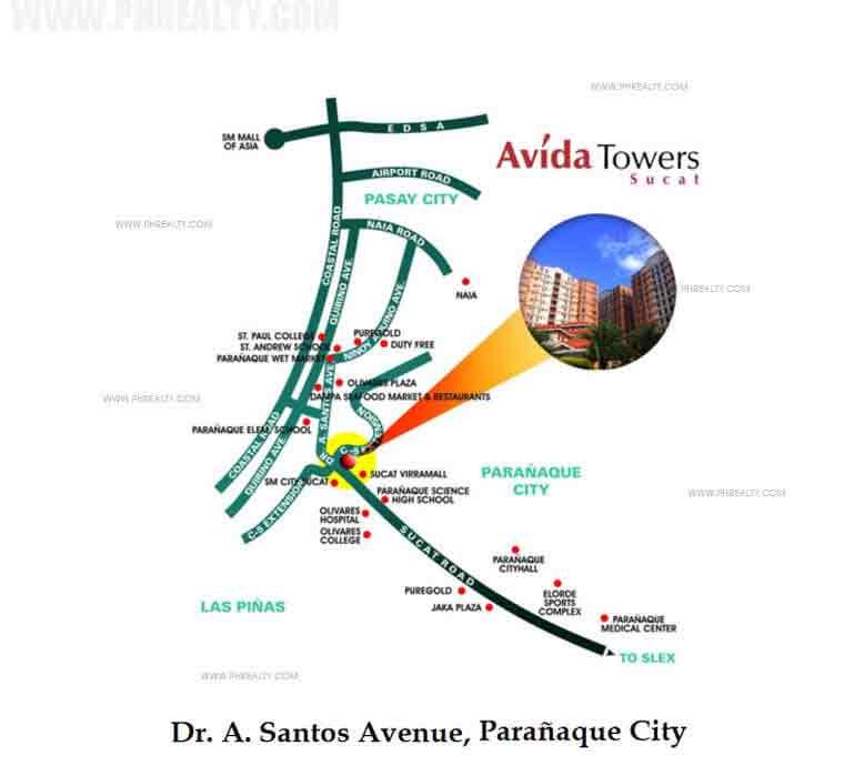 Avida Towers Sucat - Location & Vicinity
